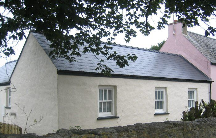 Exterior of Foxglove Cottage, Angle, Pembrokeshire, Wales, UK